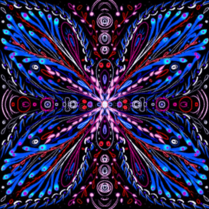 Mandala Butterfly Digital Painting Psychedelic vector illustratie
