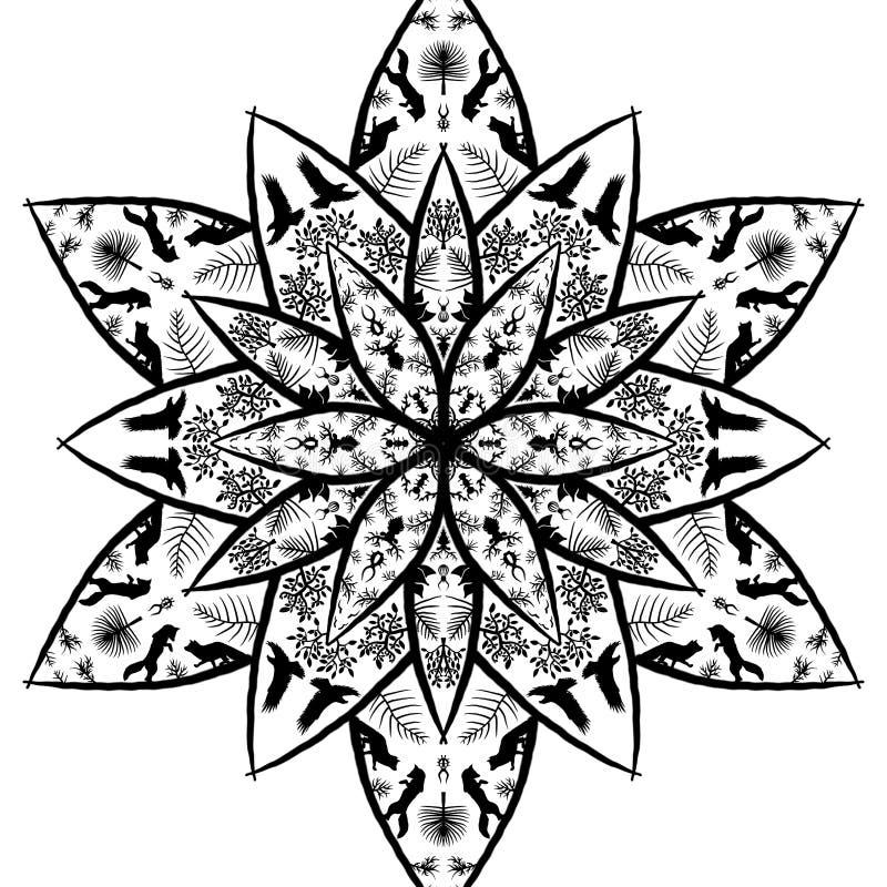 mandala vektor abbildung