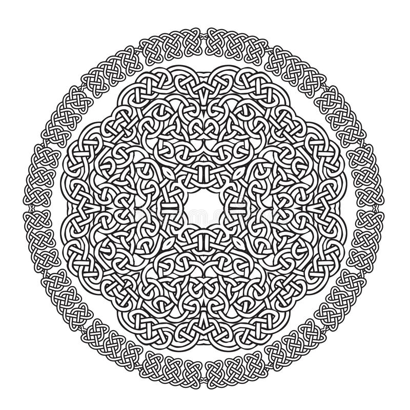 Mandala céltica del nudo ilustración del vector
