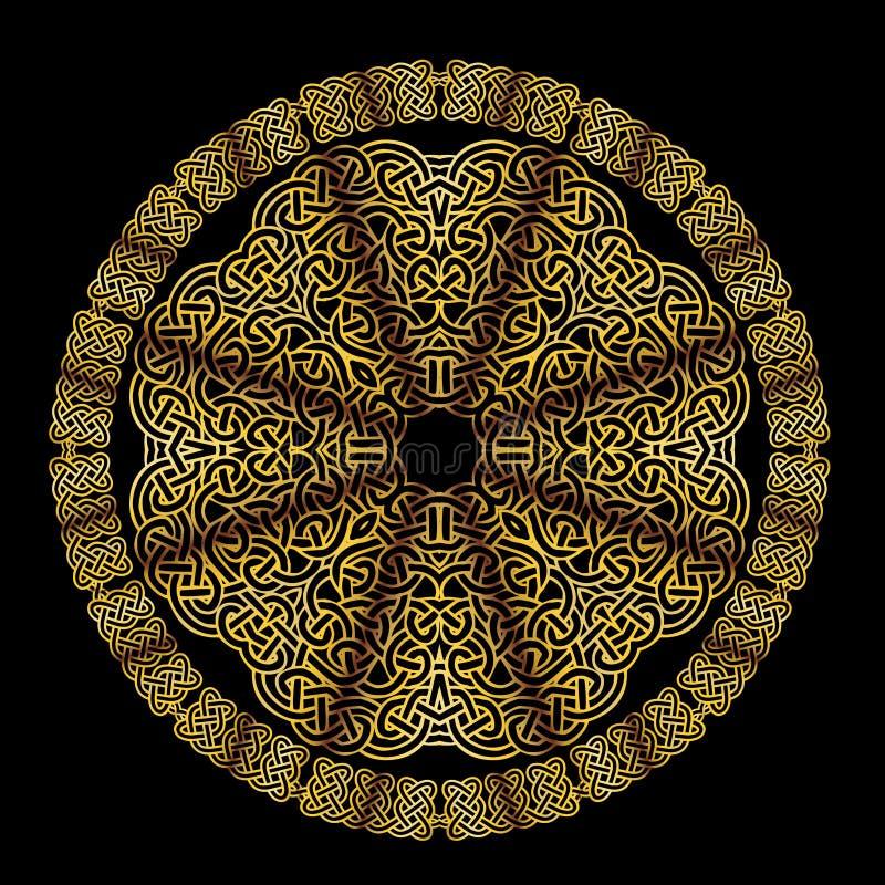 Mandala céltica del nudo en oro libre illustration