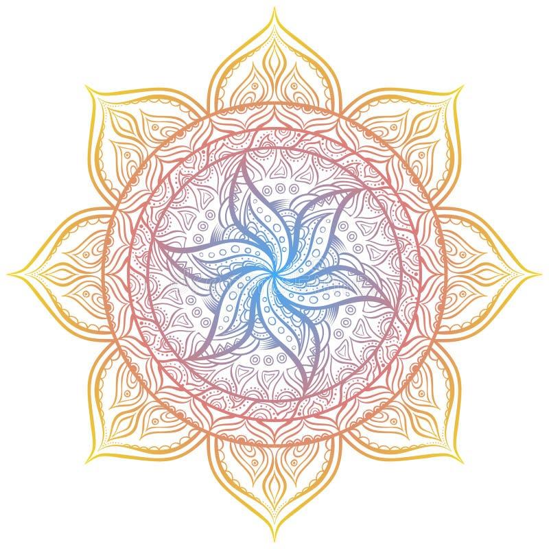 mandala Círculo ornament stock de ilustración