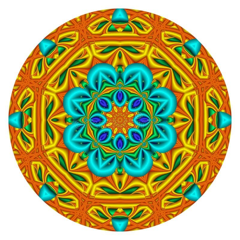 Mandala caleidoscopica illustrazione vettoriale