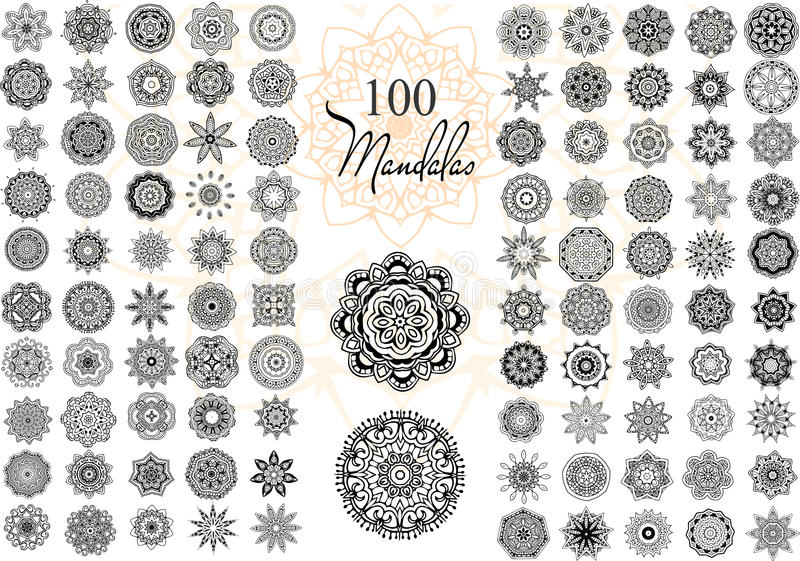 Mandala Card Set illustrazione di stock