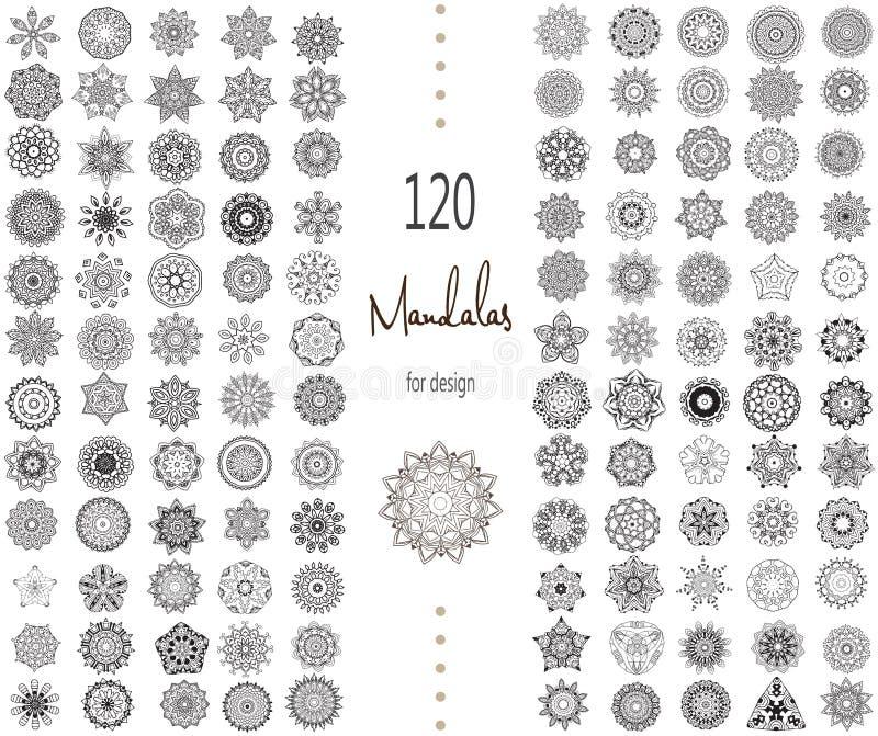 Mandala Card Set stock de ilustración