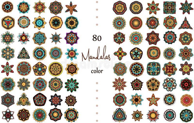 Mandala Card Set arkivbild