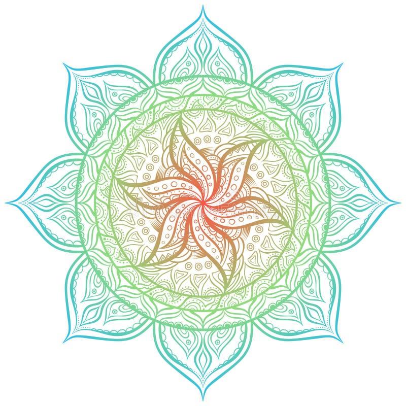 mandala Cercle ornament illustration de vecteur