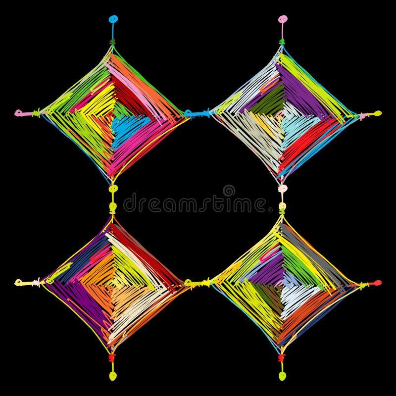Mandala che tricotta, schizzo per la vostra progettazione royalty illustrazione gratis