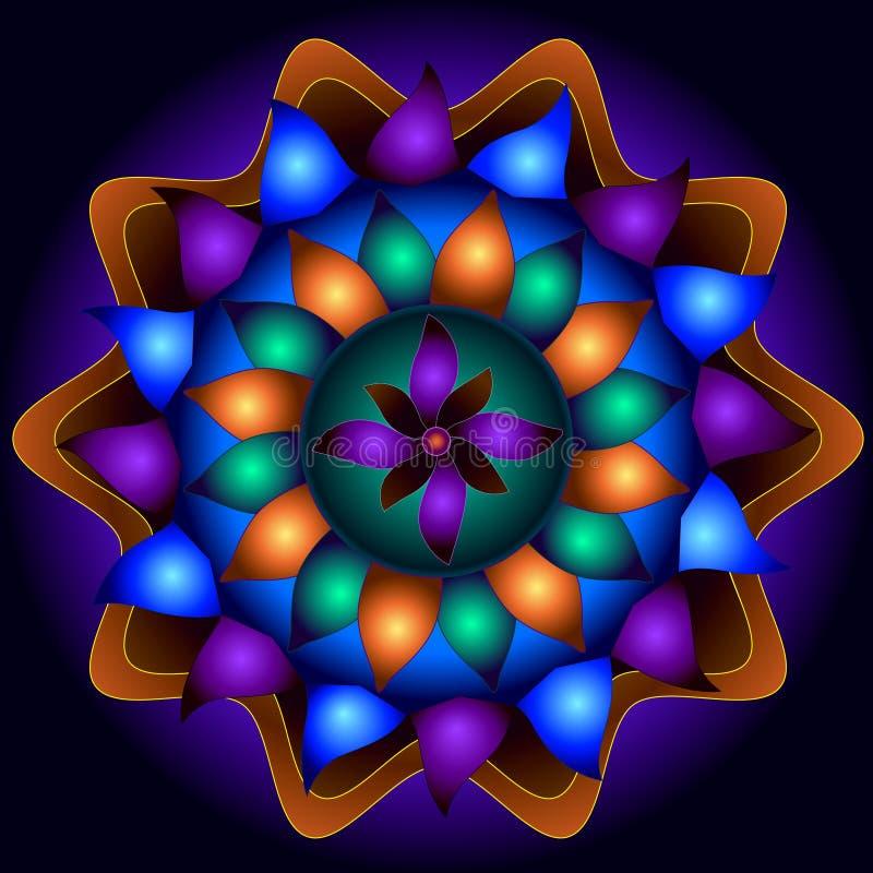 Mandala Circle of Kindness royalty free illustration