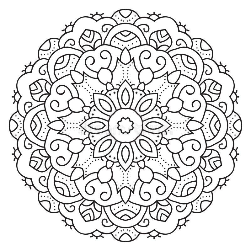Mandala circulaire symétrique de modèle illustration stock
