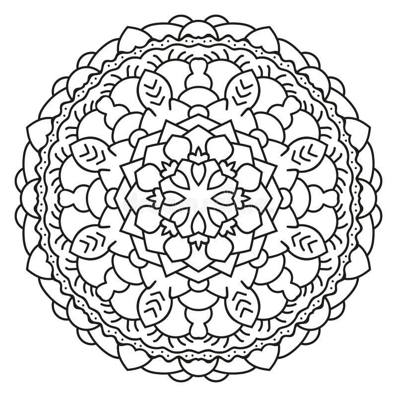 Mandala Circulaire Symétrique De Modèle Illustration de Vecteur ...