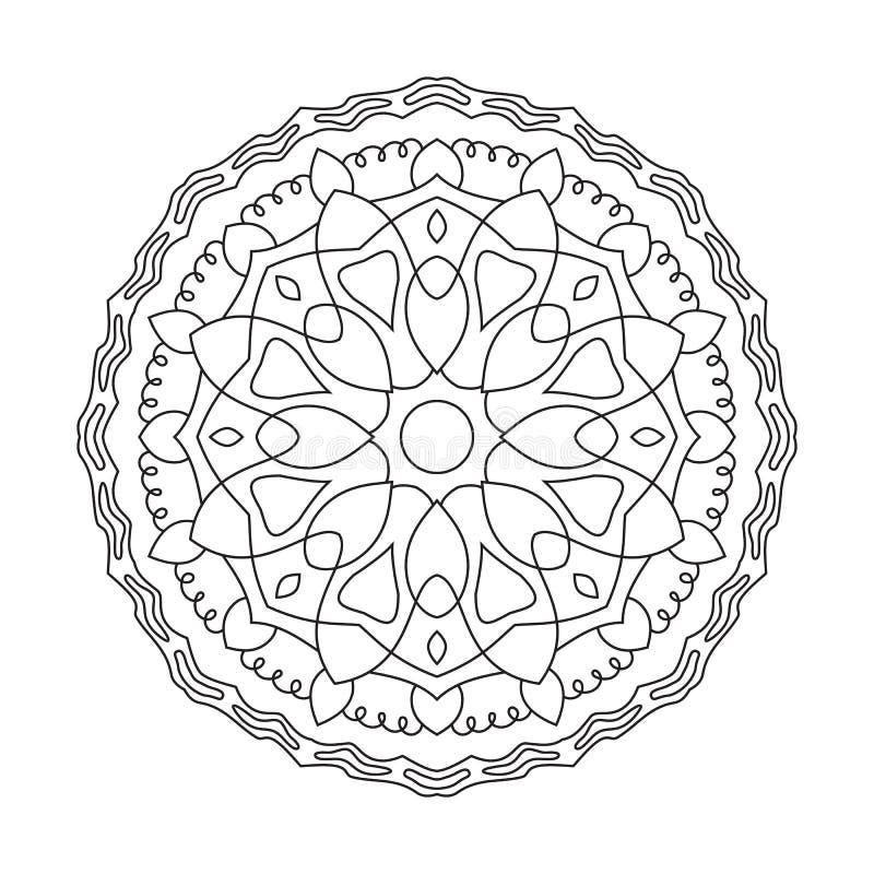 Mandala circulaire symétrique de modèle Modèle oriental décoratif illustration stock