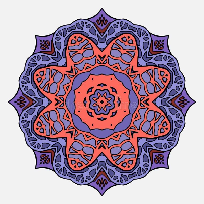 Mandala circular do vitral ilustração royalty free