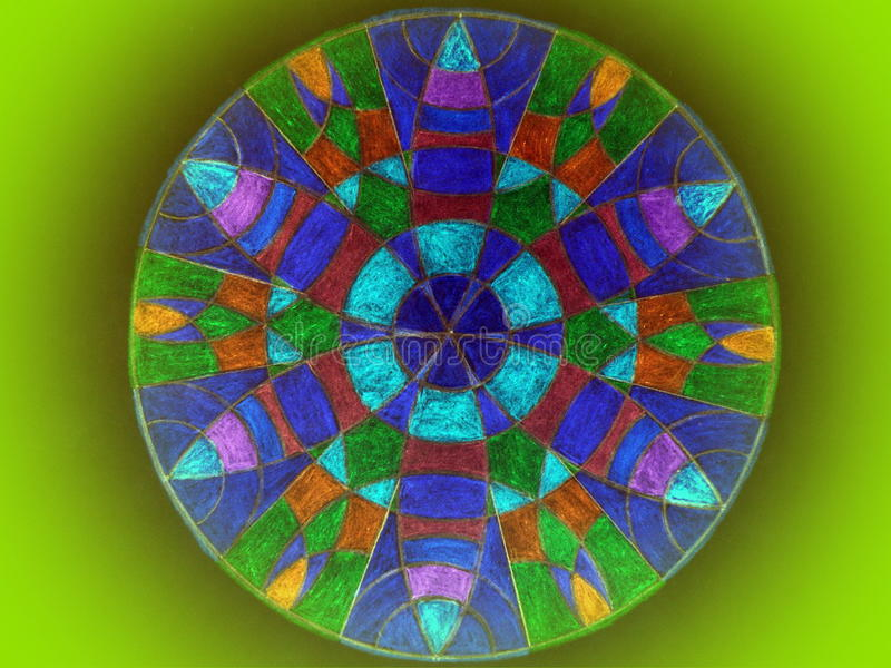 Mandala coloré photo stock