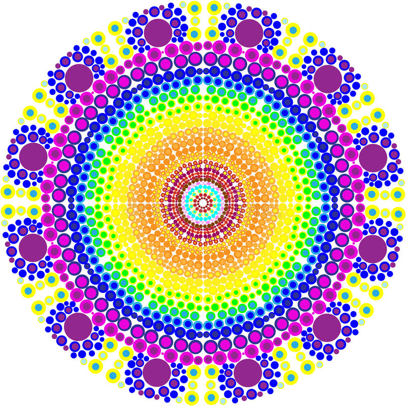Mandala coloré décoratif de vecteur Mandala coloré décoratif de vecteur Modèle rond d'ornement image libre de droits