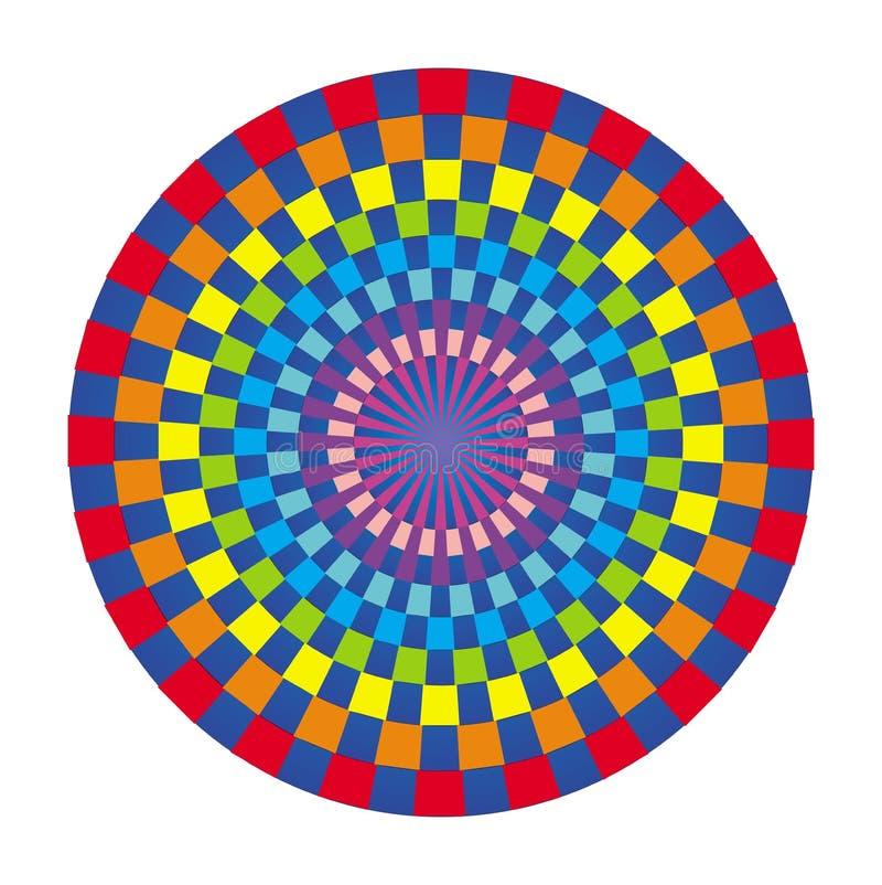 Mandala coloré des places colorées Ornement circulaire à jour illustration libre de droits