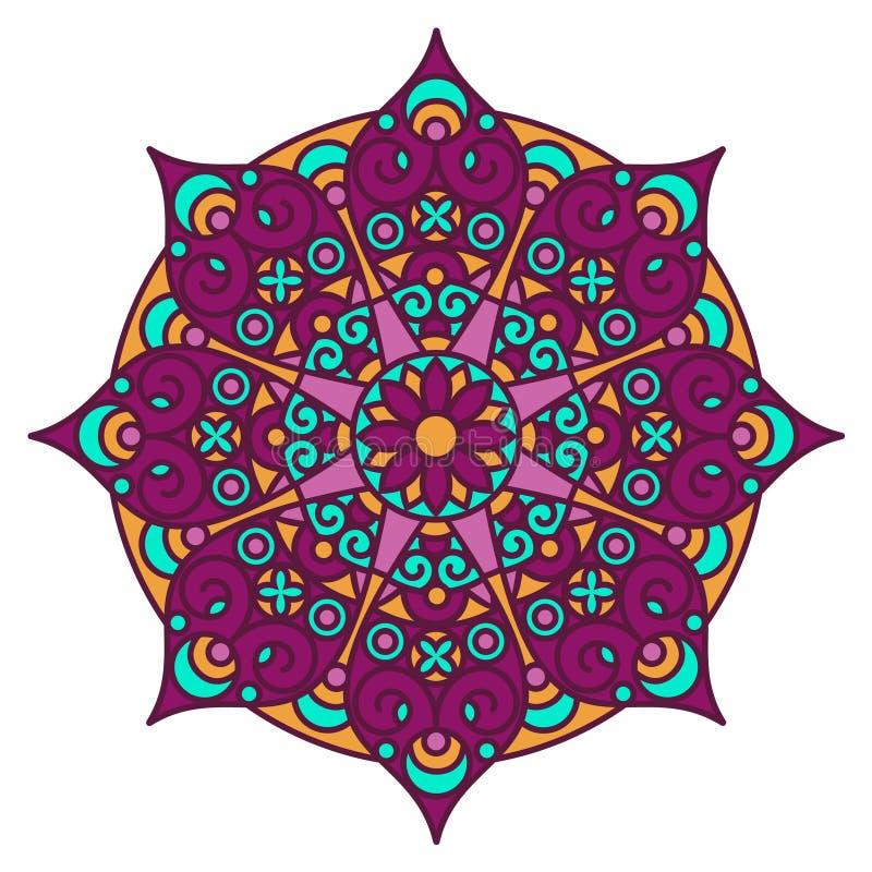 Mandala color stock vector Illustration of fabric aztec 61553872