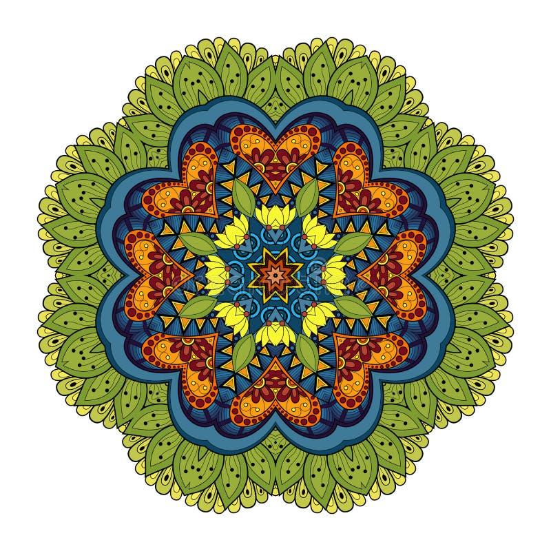 Mandala coloreada Deco hermosa del vector libre illustration