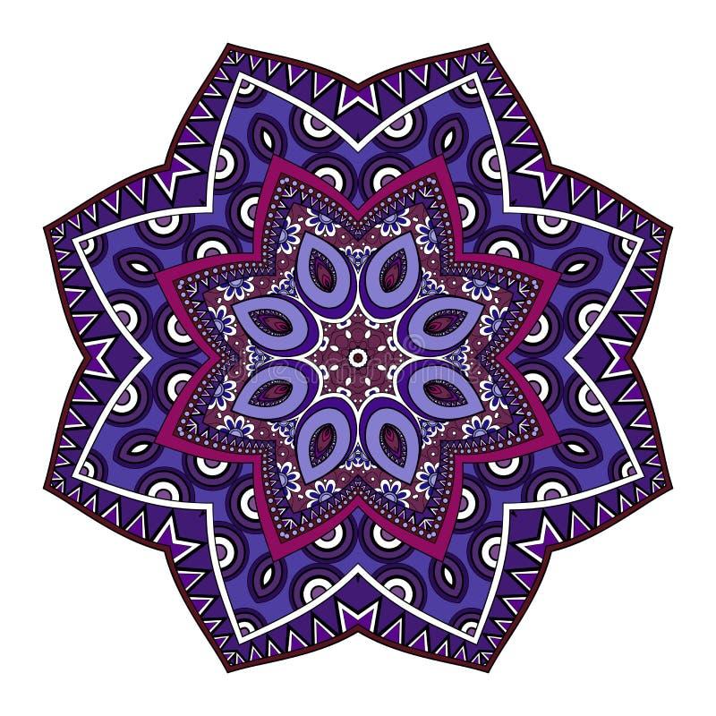 Mandala coloreada Deco hermosa del vector ilustración del vector