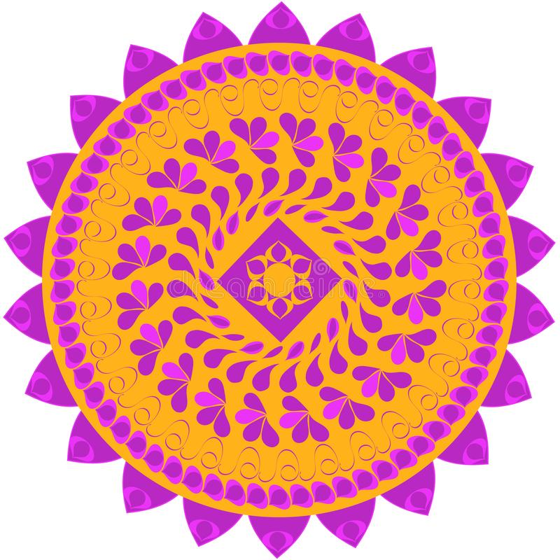 Mandala colorida abstracta en vector libre illustration