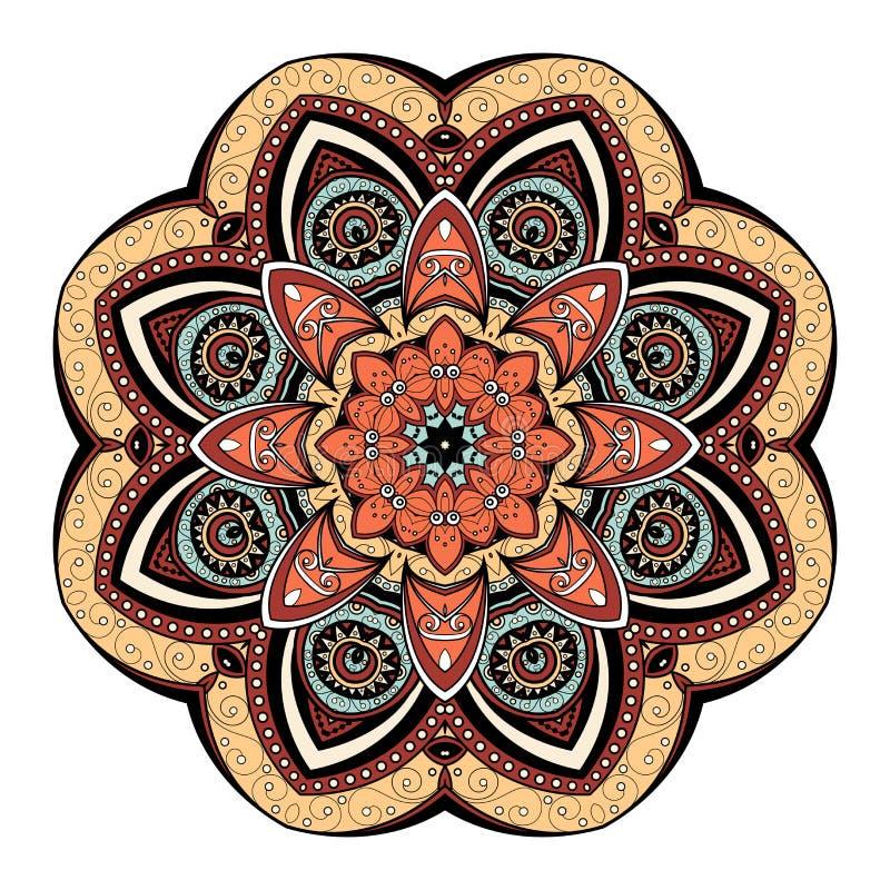 Mandala colorida Deco bonita do vetor ilustração do vetor