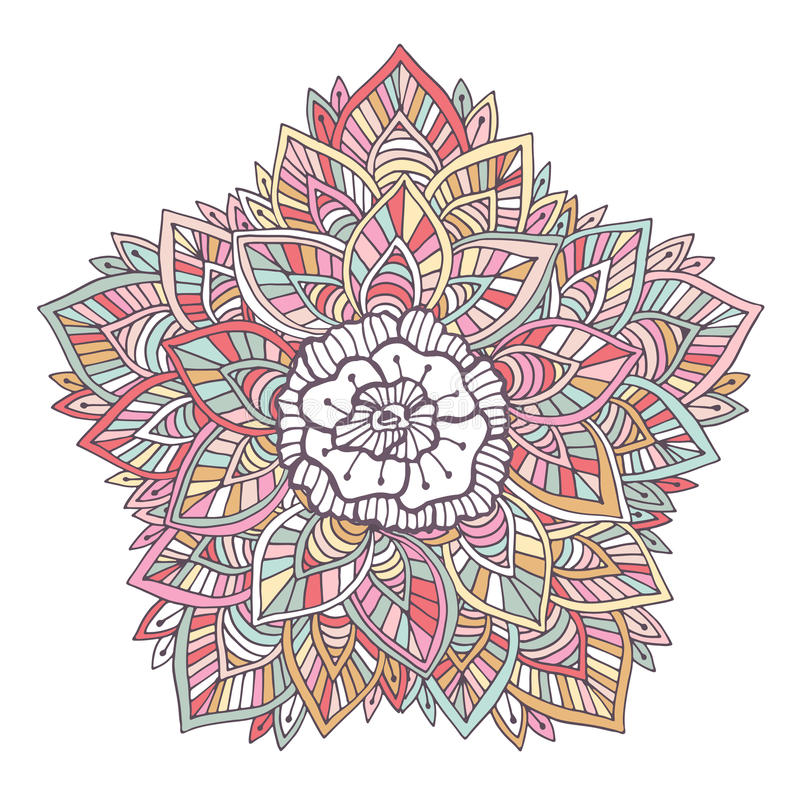 Mandala colorida del vector ornamento para la decoraci n for Decoracion de paginas