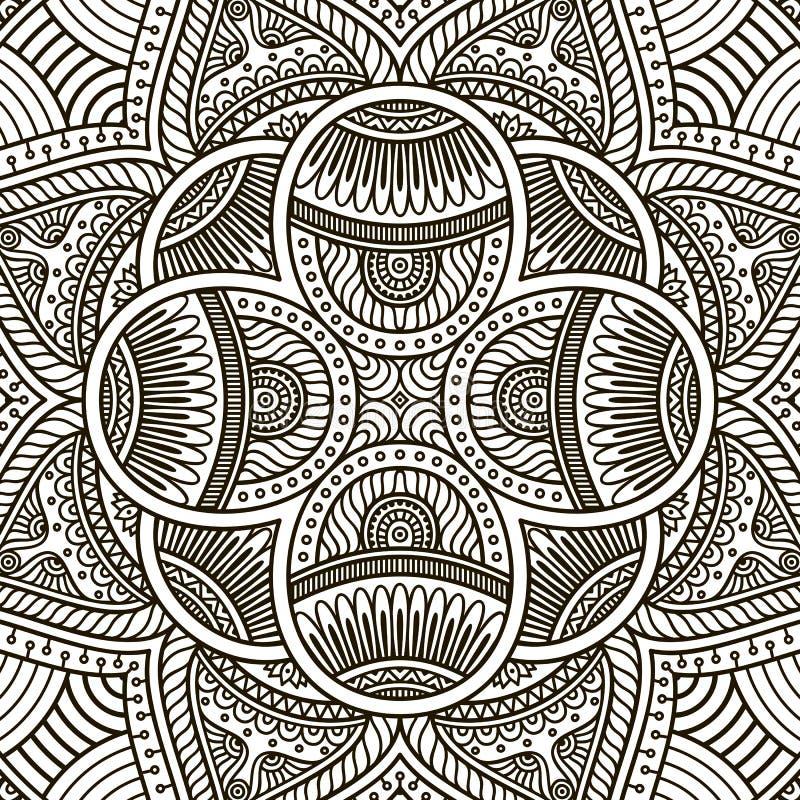 Mandala. Coloring page stock vector. Illustration of bright - 62432566