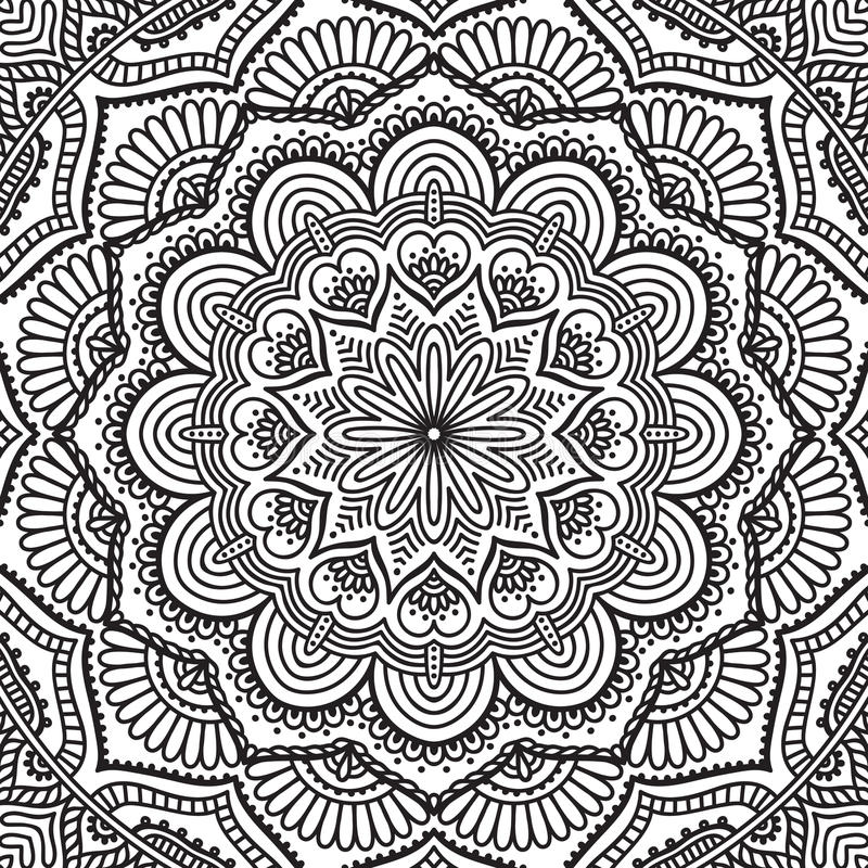Mandala. Coloring page stock vector. Illustration of islamic - 62432853