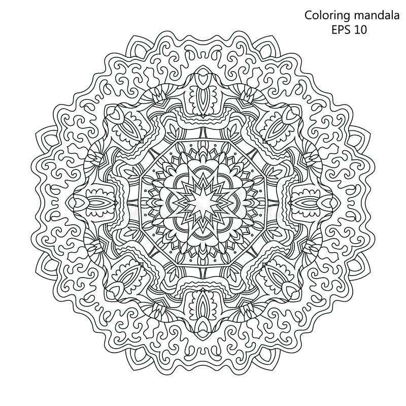 Mandala Coloring-Seite Für Erwachsene Vektor Illustration Vektor ...