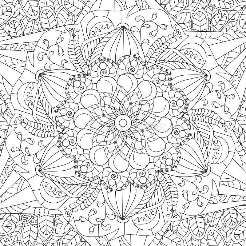 mandala coloring vector for adults stock vector