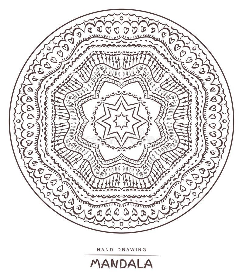 Mandala for coloring. Vector Beautiful Deco Mandala,Ethnic decor stock photo