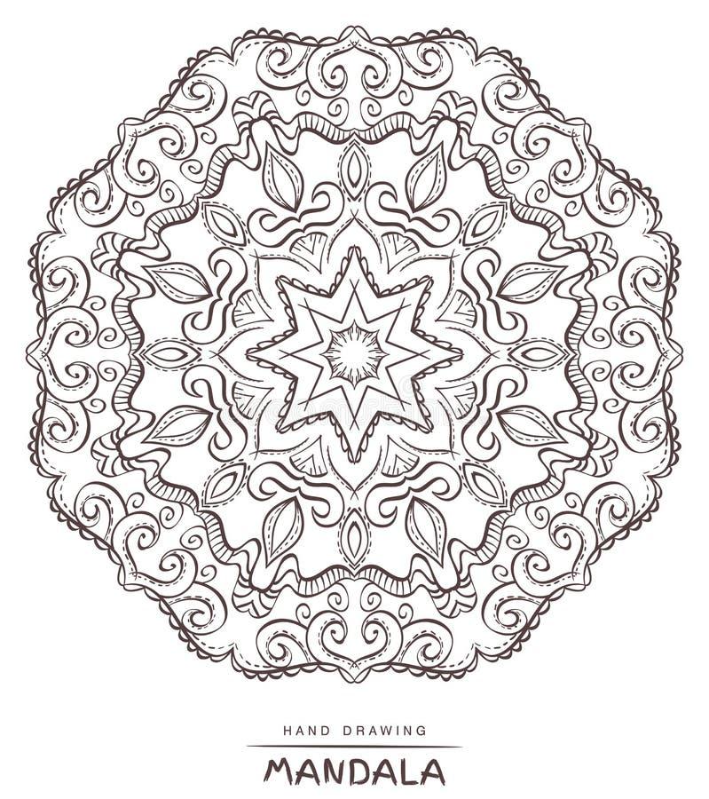 Mandala for coloring. Vector Beautiful Deco Mandala,Ethnic decor stock photos