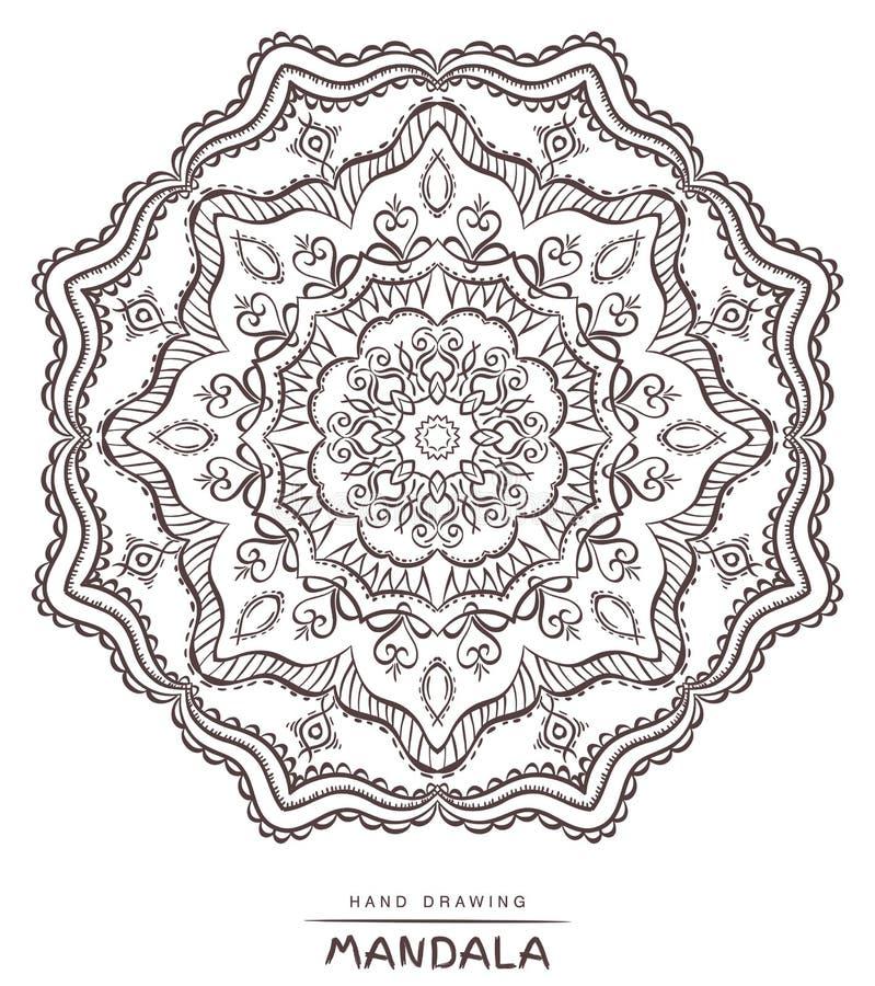Mandala for coloring. Vector Beautiful Deco Mandala,Ethnic decor royalty free stock image
