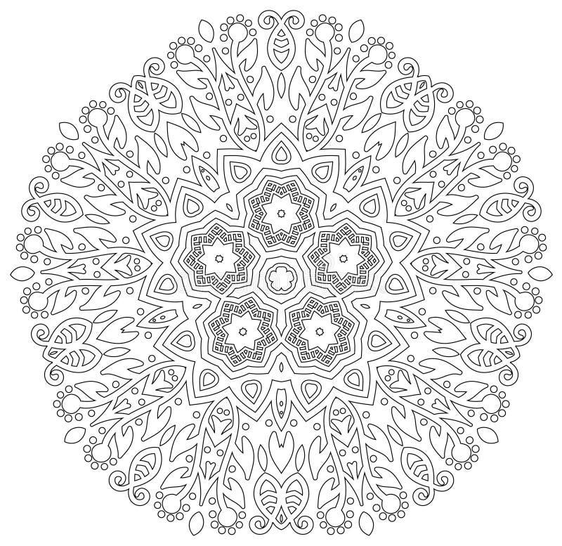 Mandala com projeto da flor fotos de stock