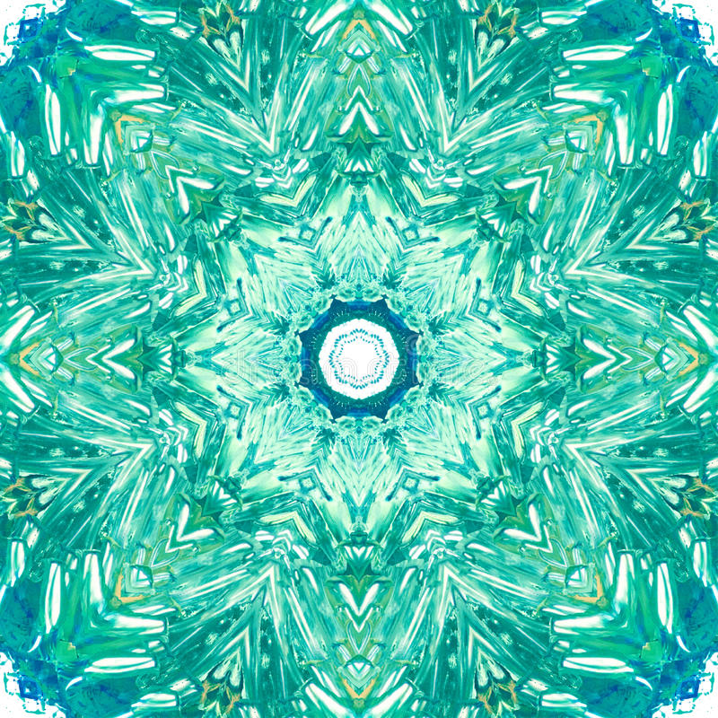 Mandala com textura feito a mão da aquarela da arte imagens de stock royalty free