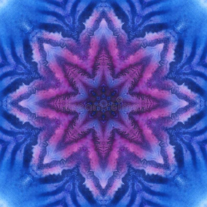 Mandala com textura feito a mão da aquarela da arte imagem de stock royalty free