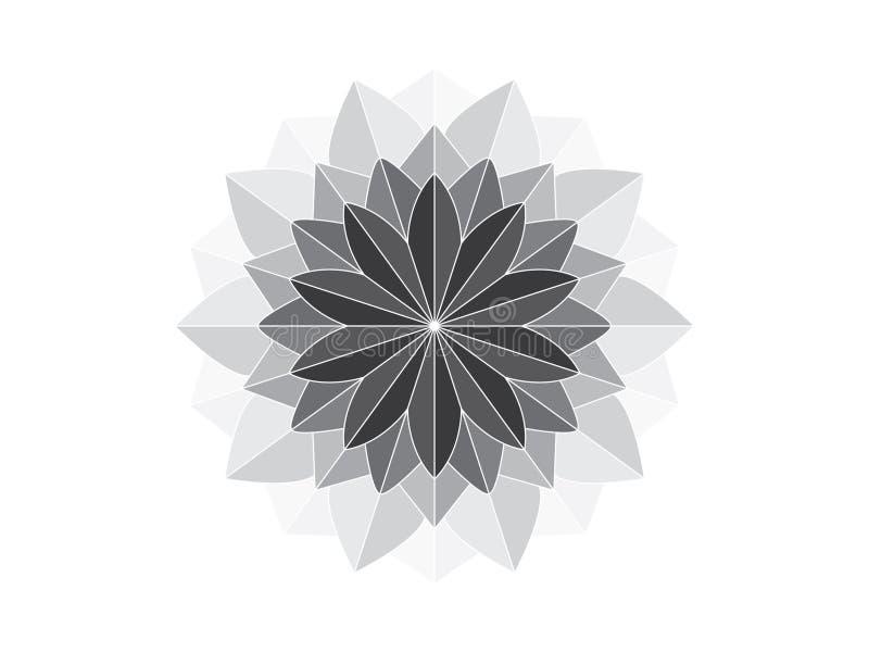 Mandala como o ornamento geométrico ilustração do vetor