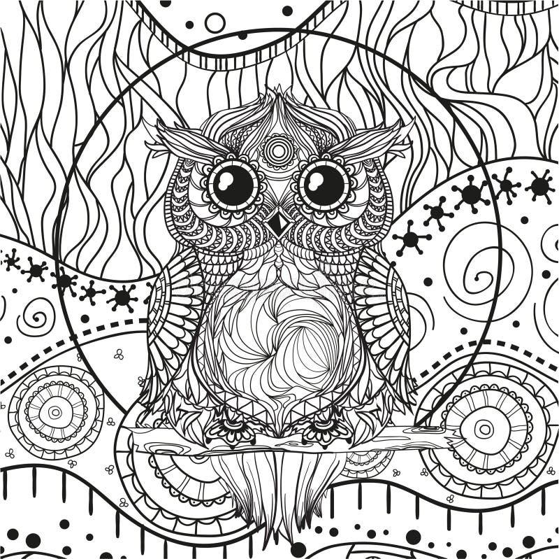 Mandala con el búho libre illustration