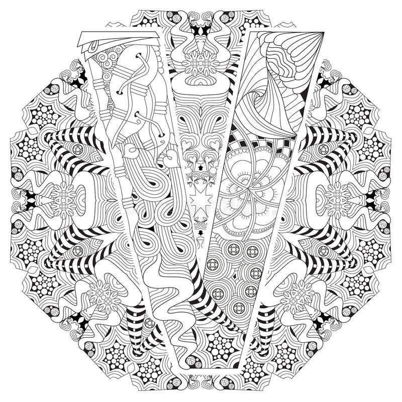 Letra Z Para Colorear Objeto Decorativo Del Zentangle Del