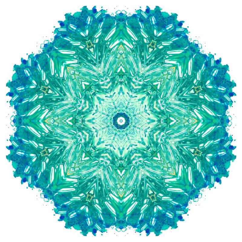 Mandala con textura hecha a mano de la acuarela del arte fotos de archivo