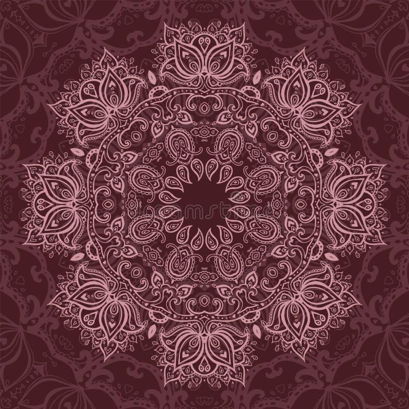 mandala Configuration décorative indienne illustration de vecteur