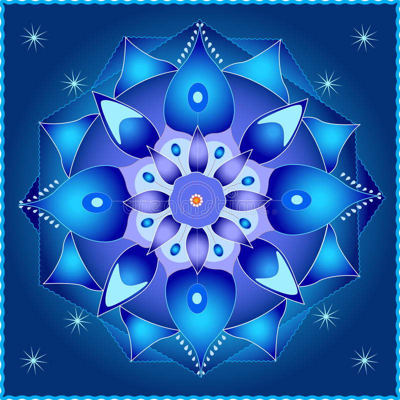 Mandala cosmica illustrazione di stock