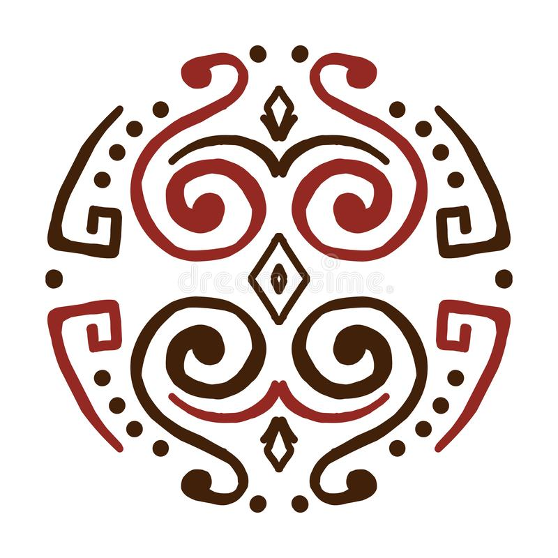 mandala Creatief cirkelornament Rond symmetrisch patroon Uitstekende decoratieve elementen stock illustratie