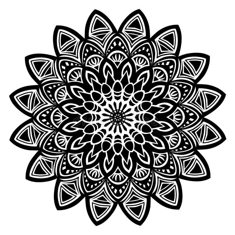Mandala czerń royalty ilustracja