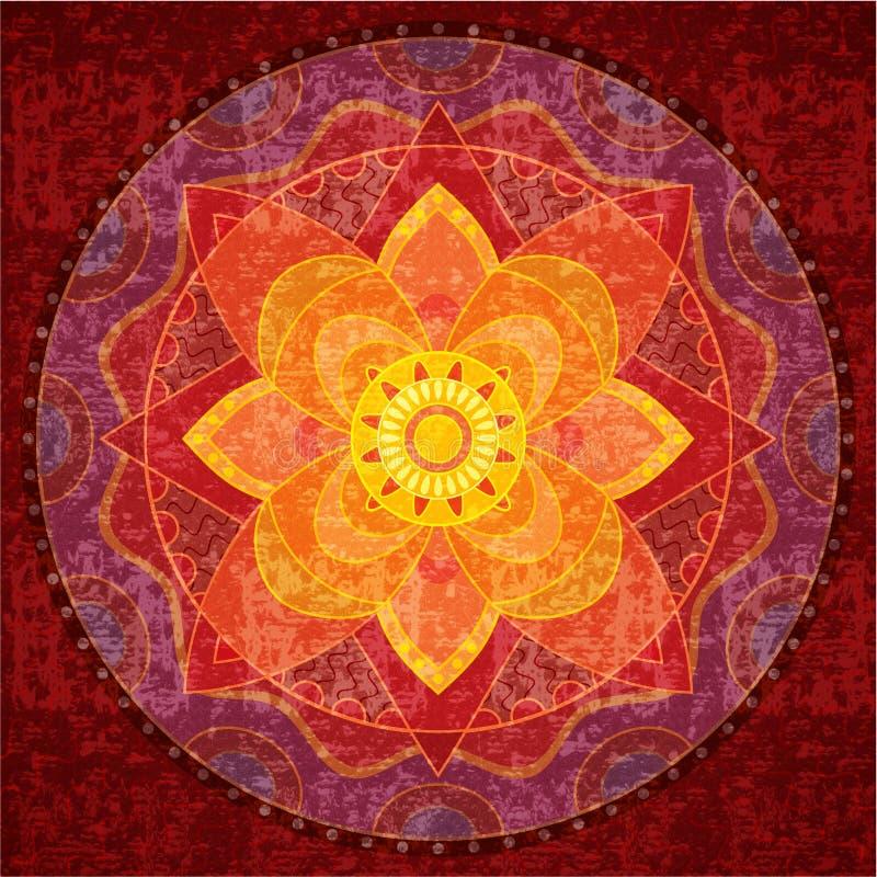 mandala czerwień royalty ilustracja