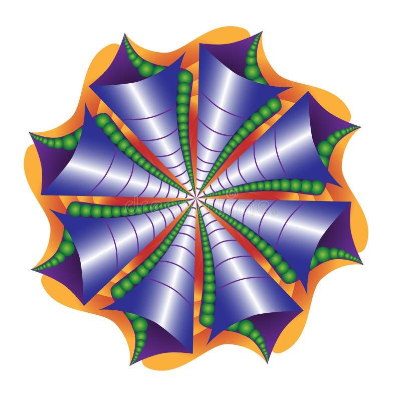 Mandala d'abrégé sur coquille de mer illustration stock