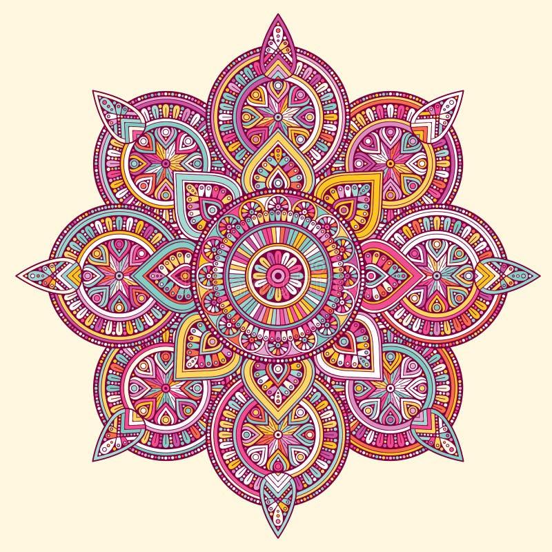 Mandala d'Indien de vecteur illustration de vecteur