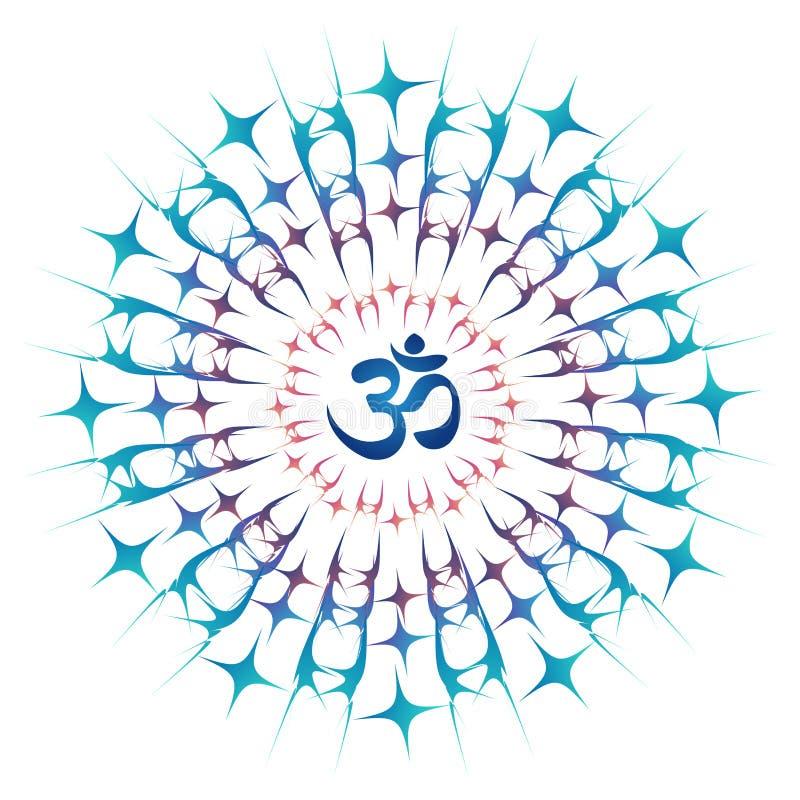Mandala d'ohm ou générateur d'énergie de Sri Chakra illustration de vecteur