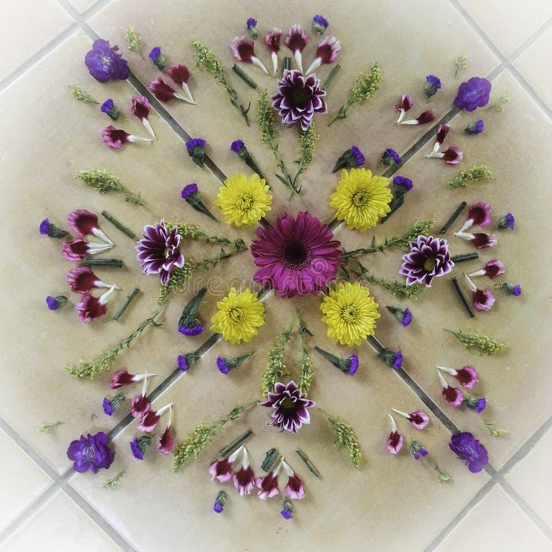Mandala da flor foto de stock royalty free