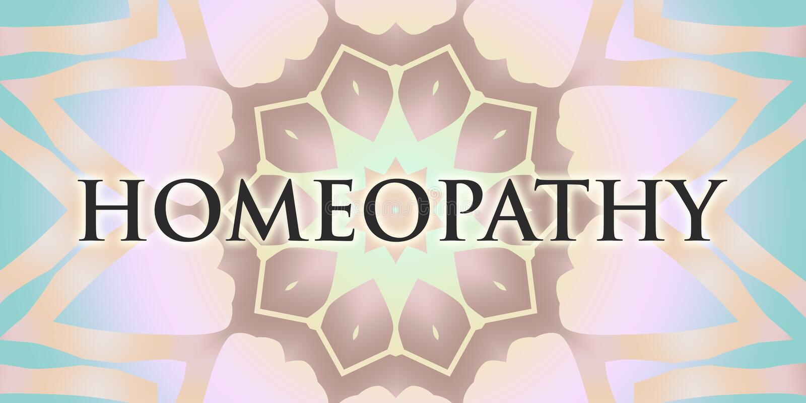 Mandala da homeopatia foto de stock royalty free
