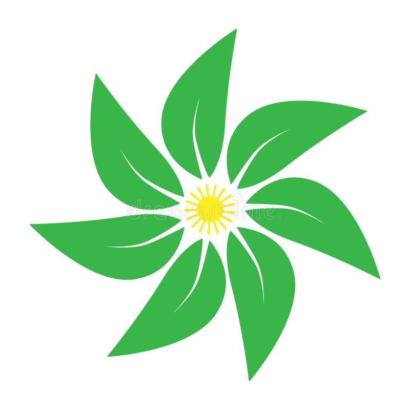 Mandala das folhas fotografia de stock royalty free